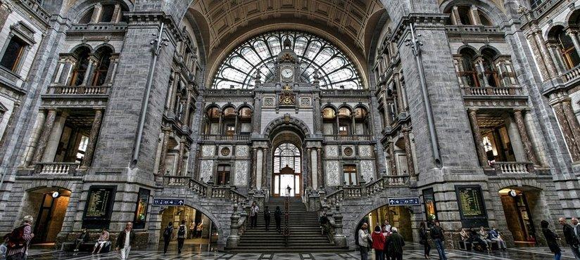 antwerp railway station Антверпен, обзорная экскурсия